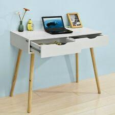 sobuy fwt40 wn home office table desk computer workstation 2 drawers