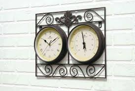 outdoor clock and thermometer wall mounted g indoor and outdoor garden clock and thermometer wall mounted outdoor clock and thermometer wall