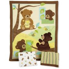 honey bear 3 piece nursery bedding set