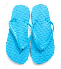 Light Blue Flip Flops A Pair Of Light Blue Flipflops On A White Background