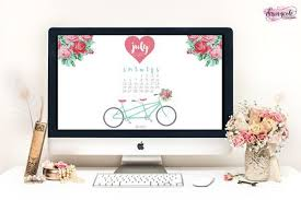 July Printable Calendar Desktop Wallpaper Dawn Nicole