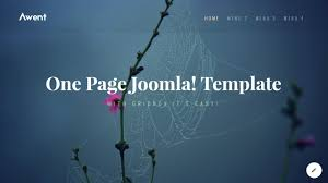 One Page Menu Template Free Joomla One Page Template With Gridbox Youtube