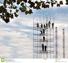Scaffold Builders The Scaffold Builders Stock Image Image Of Labor Materials