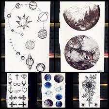 чёрные холмы планета шар горы временная татуировка для мужчин мальчиков