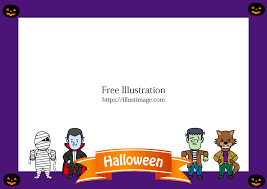 free halloween monster frame image free cartoon clipart graphics ii