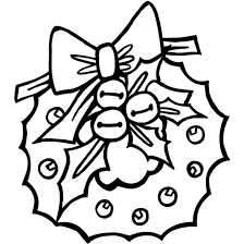 Christmas Wreath Coloring Pages Coloringpages1001com