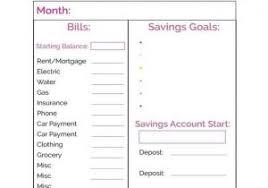 bill organizer template personal budget plan template budget monthly planner budget planner