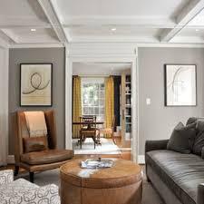 Grey walls brown furniture Floor Example Of Trendy Enclosed Living Room Design In Dc Metro With Gray Walls Houzz Brown Couch Gray Walls Houzz