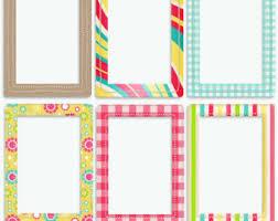 Colorful Frames Etsy