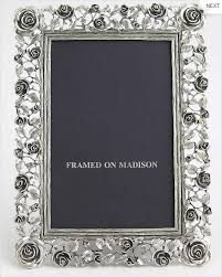 pewter frame with rose detail