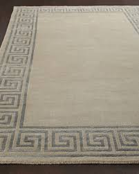 greek key border rug 4 x 6