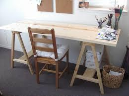 DIY desk itself building work table wood