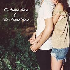 best romantic love couple dp name