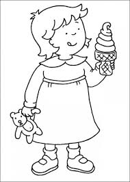 76 Best Caillou Coloring Fun Images On Pinterest Caillou Day Little