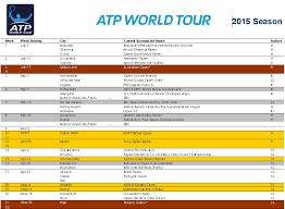atp world tour calendar for 2016
