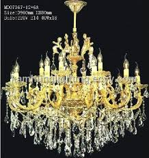 diameter 960mm brass crystal chandelier lamp with gold finish