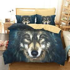 wolf bedding sets king animal printed wolf bedding set singe double queen king size duvet cover wolf bedding