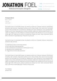 minimalistic multipage resume cover letter