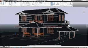 screenshot of autocad 2016 architectural drawing