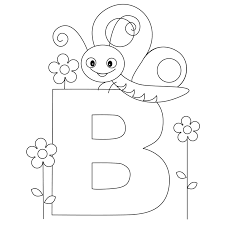 Small Picture Alphabet Coloring Pages Letter B Coloring Pages
