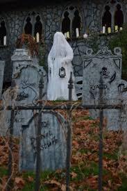 excellent Halloween ghost in the graveyard!