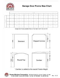 Opening Header Size Chart Www Bedowntowndaytona Com