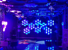 led 3d honeycomb diy decoration and stage and wall lighted backdrop