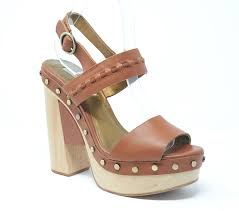 cynthia vincent potent moclea brown leather platform sandals