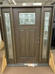 therma tru stained java classic fiberglass black nickel glass entry door new