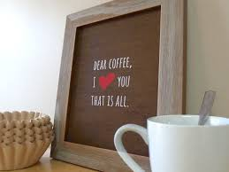 Coffee Decor For Kitchen Kitchen Simple Words Coffee Kitchen Decor In Wood Frame Next To