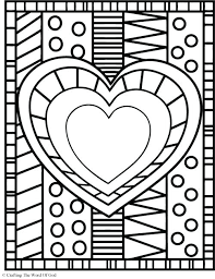 Heart Coloring Pages With Wings Best Ideas On Valentine Coloring