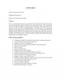 Custodian Job Description Resume Template Duties School For Amazing