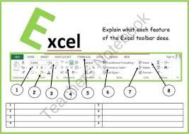 Microsoft Lesson Plans Microsoft Excel Toolbar From Computer Ict Lesson Plans On