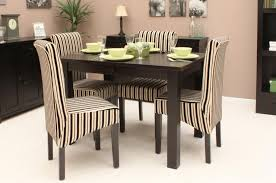 dining room unique retro dining room with striped dining chairs also black square table design