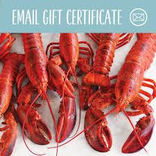 lobster gram email gift certificate