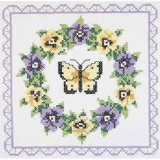 Janlynn St&ed Cross-Stitch Quilt Blocks, 6pk, 18  x 18 , Pansy ... & Janlynn Stamped Cross-Stitch Quilt Blocks, 6pk, 18
