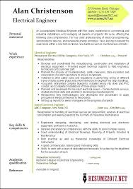 Electrical Engineer Resume Template Resume Example Electrical