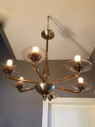blown glass chandelier 1960s 12