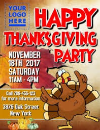 thanksgiving party flyer thanksgiving poster templates postermywall