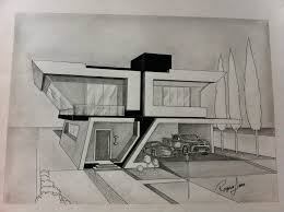 architectural buildings drawings. Cool Architecture Drawing \u2013 Modern House Architectural Buildings Drawings