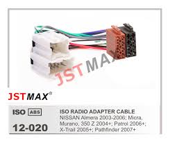 aliexpress com buy jstmax car iso radio plug for nissan almera 05 Murano Radio Wire Harness jstmax car iso radio plug for nissan almera micra murano 350z patrol x trail pathfinder JVC Radio Wire Harness