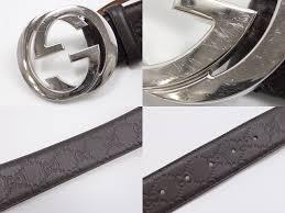 gucci 411924. gucci interlocking grip g buckle belt men old clothes dark brown size 90cm 36 411924 r