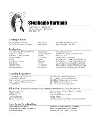 Performance Profile Resumes Music Performance Resume Template Profile Breathelight Co