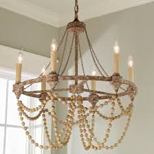 Wooden chandelier lighting Outdoor Wood Rustic Refined Wood Bead Chandelier Shades Of Light Rustic Chandeliers Wood Farmhouse Wrought Iron Shades Of Light
