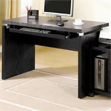 coaster shape home office computer desk. Coaster Peel Computer Desk With Keyboard Tray In Black Shape Home Office