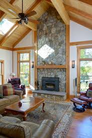 Open Stone Fireplace Family Room With Vaulted Ceiling And Stone Fireplace The Stone