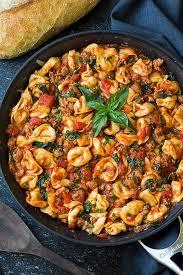one pan turkey sausage spinach and marinara tortellini