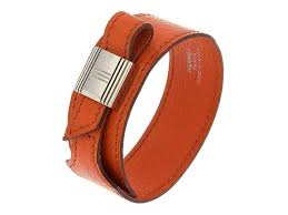 good hermès womens orange leather wrap bracelet 39a1c 000f1