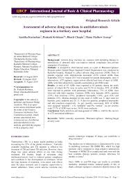 PDF) Assessment of adverse drug reactions to antituberculosis regimen in a  tertiary care hospital