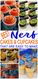 Nerf Cake And Nerf Gun Cupcake Easy Simple Ideas